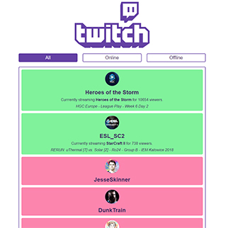 Twitch Stream Tracker preview